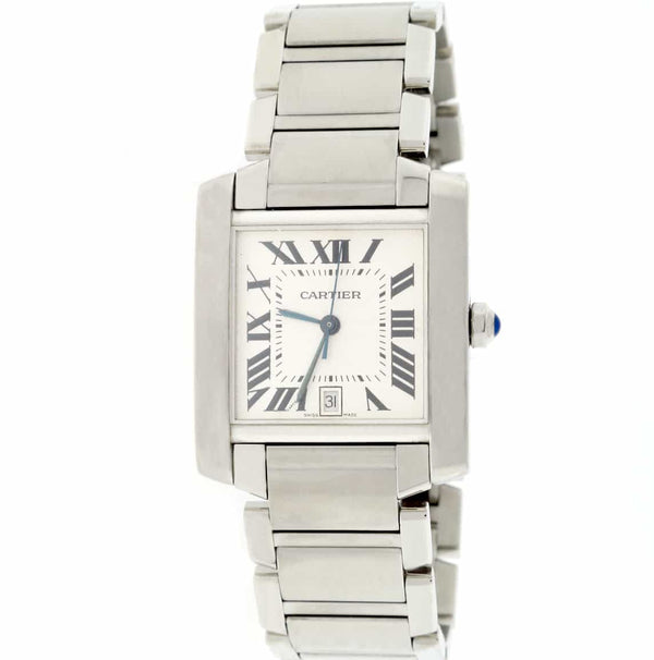 Cartier Tank Francaise Large Stainless Steel 28MM Womens Watch W51002Q3