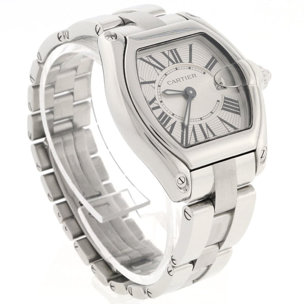 Cartier Roadster Small Silver Sunray Roman Dial 30MM Stainless Steel Watch W62016V3