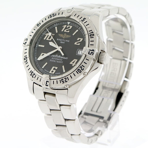 Breitling Colt Ocean Automatic Black Dial 38MM Stainless Steel Mens Watch A17050