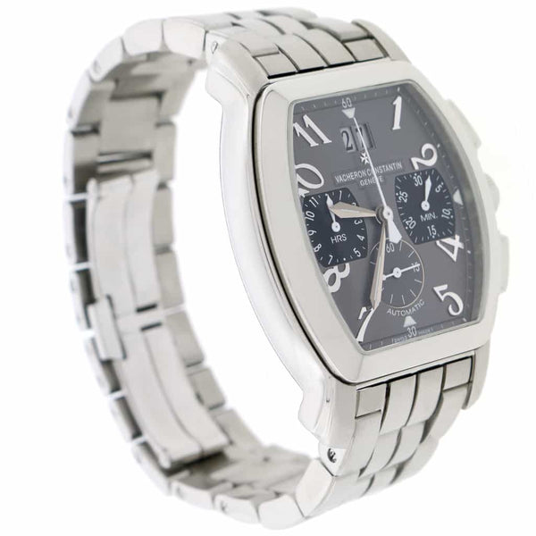 Vacheron Constantin Royal Eagle Big Date Original Gray Dial Chronograph 36MM Automatic Steel Mens Watch 49145