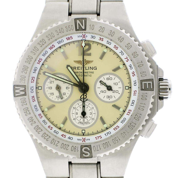 Breitling Professional Hercules Chronograpah 45MM Cream Dial Automatic Stainless Steel Mens Watch A39363