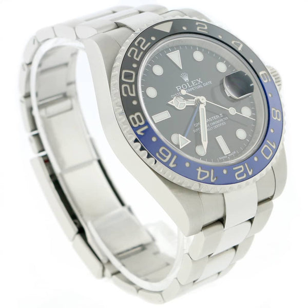Rolex GMT-Master II Batman Ceramic Bezel 40MM Black Dial Automatic Stainless Steel Mens Oyster Watch 116710