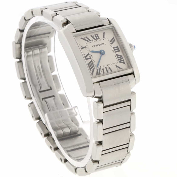 Cartier Tank Francaise Small Stainless Steel Ladies Watch W51008Q3