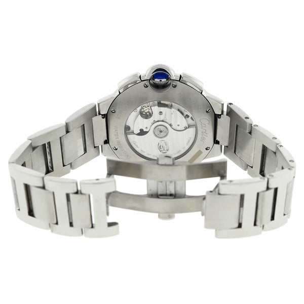 Cartier Ballon Bleu XL Chronograph Silver Dial 44MM Automatic Stainless Steel Mens Watch W6920076