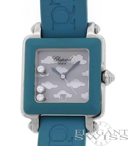 Chopard Happy Sport Square Original Floating Diamonds 27MM Ladies Watch 27/8896