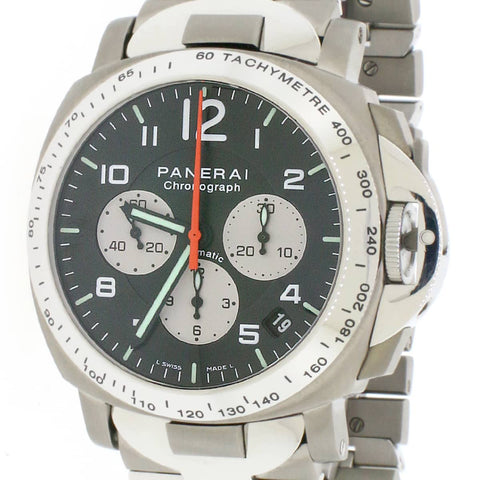 Panerai AMG Chronograph Limited Edition PAM108 Titanium/SS 40mm w/Box&Papers