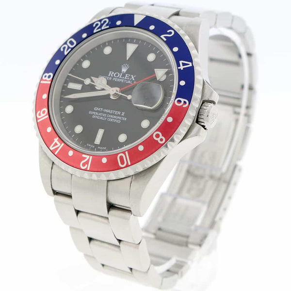 Rolex GMT-Master II Pepsi Bezel 40MM Automatic Stainless Steel Oyster Mens Watch 16710