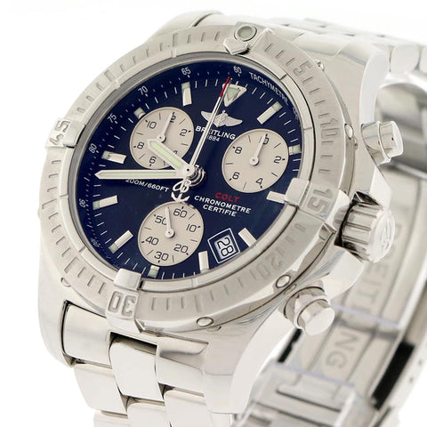 Breitling Chrono Colt 41MM Black Dial Chronograph Stainless Steel Mens Watch A73380