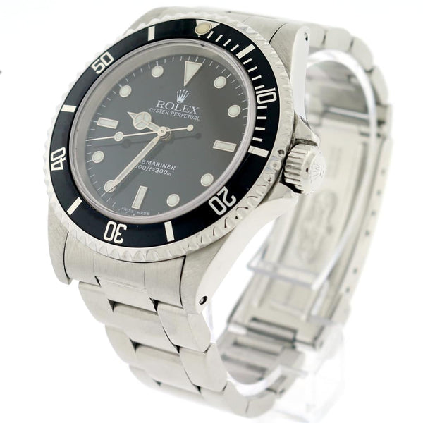 Rolex Submariner 40MM Black Dial Automatic Stainless Steel Oyster Mens Watch 14060