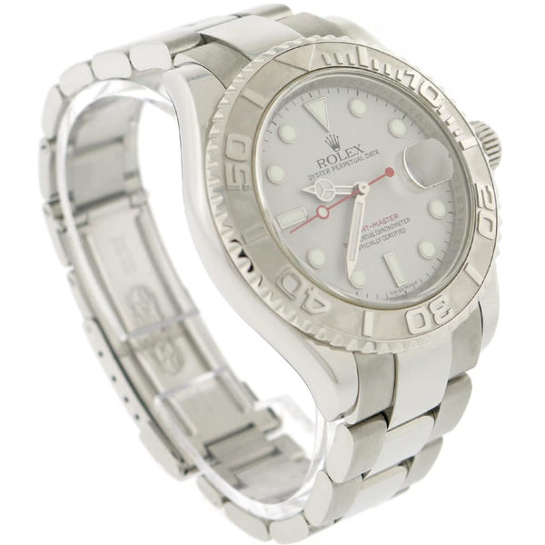Rolex Yacht-Master 40MM Platinum Rehaut Bezel Automatic Stainless Steel Mens Oyster Watch 16622