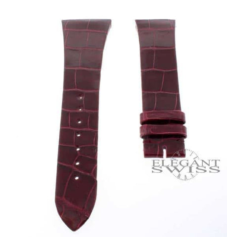 Cartier Alligator Leather Matt Red 16mm Watch Strap Ref. KD2BA111