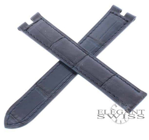 Cartier Alligator Leather Mid-Blue 16mm Watch Strap Ref. KD05EK38