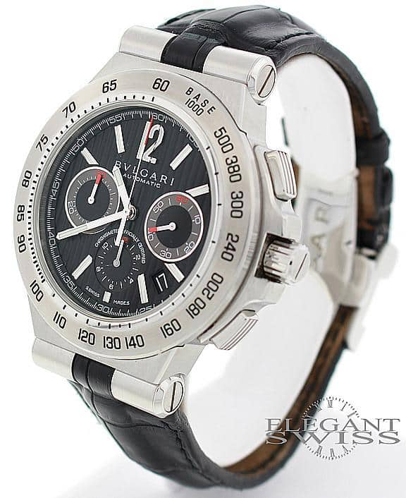 Bvlgari Diagono Pro Terra Chronograph 42MM Stainless Steel Automatic Mens Watch DP42SCH