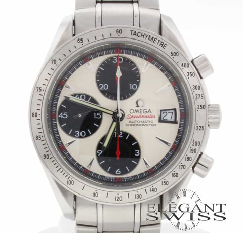Omega Speedmaster Date Chronograph 40MM Automatic Stainless Steel Mens Watch 32113100