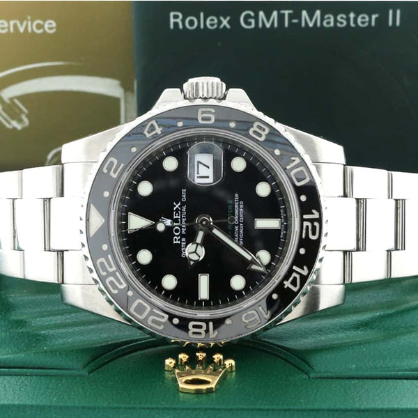 Rolex GMT-Master II 40MM Ceramic Bezel Automatic Mens Watch 116710
