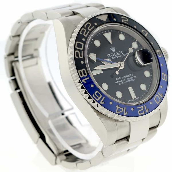 Rolex GMT-Master II Batman Ceramic Bezel 40MM Black Dial Automatic Stainless Steel Mens Watch 116710