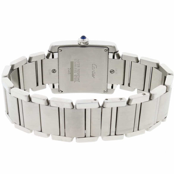 Cartier Tank Francaise Small Stainless Steel 25MM Womens Watch W51008Q3
