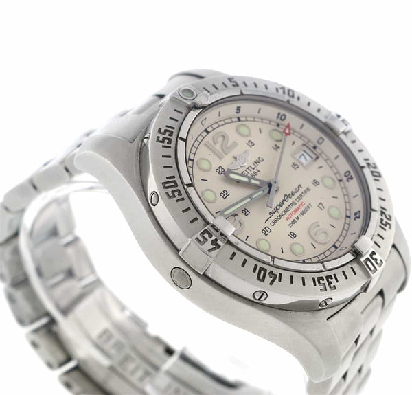 Breitling SuperOcean Steelfish X-Plus 44mm Automatic Stainless Steel Mens Watch A17390