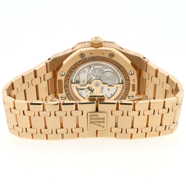 Audemars Piguet Royal Oak Quantieme Perpetual Calendar 41MM 18K Rose Gold Watch Box&Papers