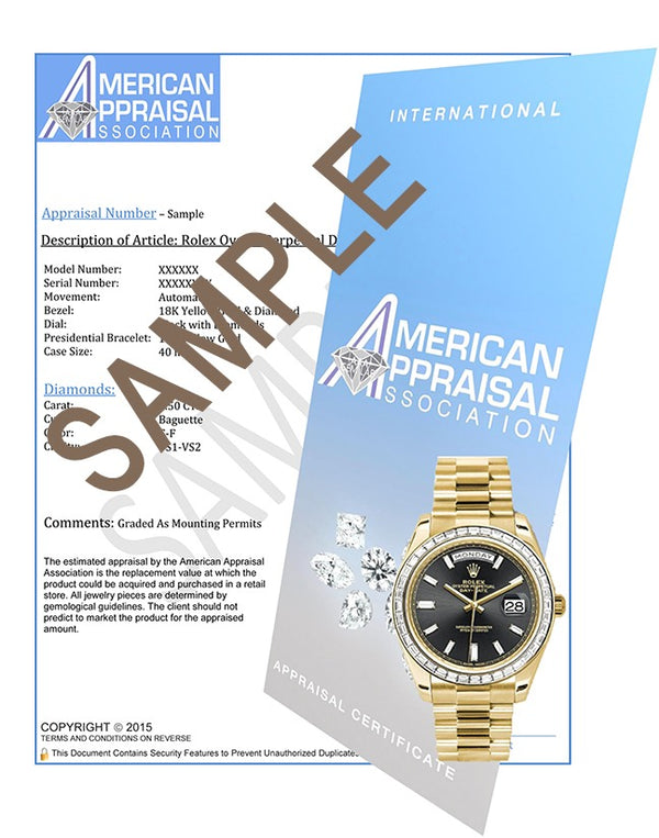 Rolex Oyster Perpetual President 6719 Ladies 18K Yellow Gold 26MM Watch w/ White MOP Diamond Dial & 1.35Ct Diamond Bezel