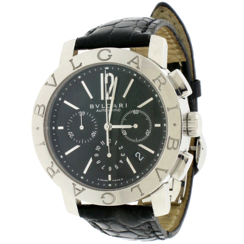 Bvlgari Chronograph 42MM stainless steel Automatic Mens Watch BB 42 SL CH