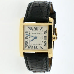 Cartier Tank Francaise 25MM 18K Yellow Gold Ladies Watch Roman Dial 1821