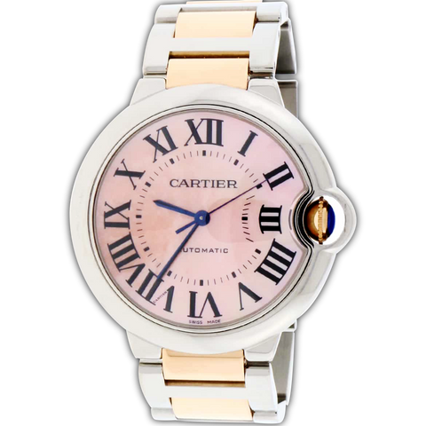 Cartier Ballon Bleu 18K Rose Gold/Steel 36mm Watch W6920033
