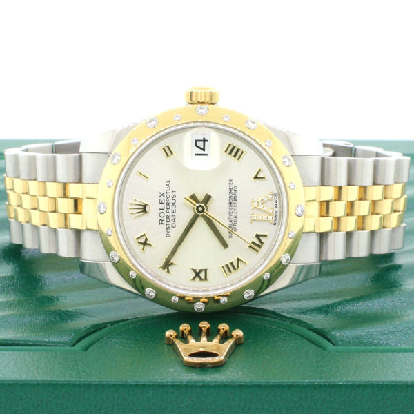 Rolex Datejust 31MM Roman Diamond Dial w/Factory Scattered Diamond Bezel 178343