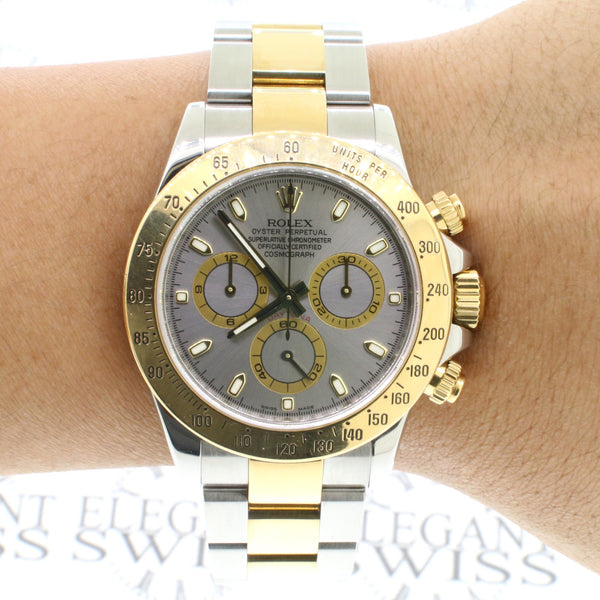Rolex Cosmograph Daytona 40mm 2-Tone 18K Yellow Gold & Stainless Steel Oyster Watch 116523