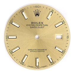 Rolex Datejust 41 Champagne Dial with Index Hour Markers 126333