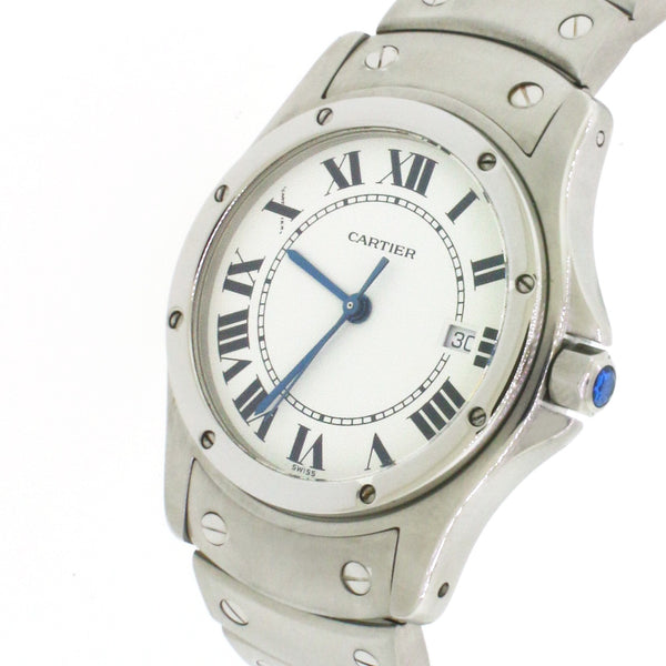 Cartier Santos Ronde Steel 30mm Ladies Watch W20027K1