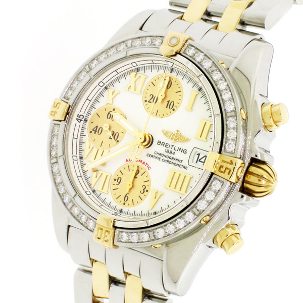 Breitling Chrono Galactic 39mm Yellow Gold/Steel Watch B13358