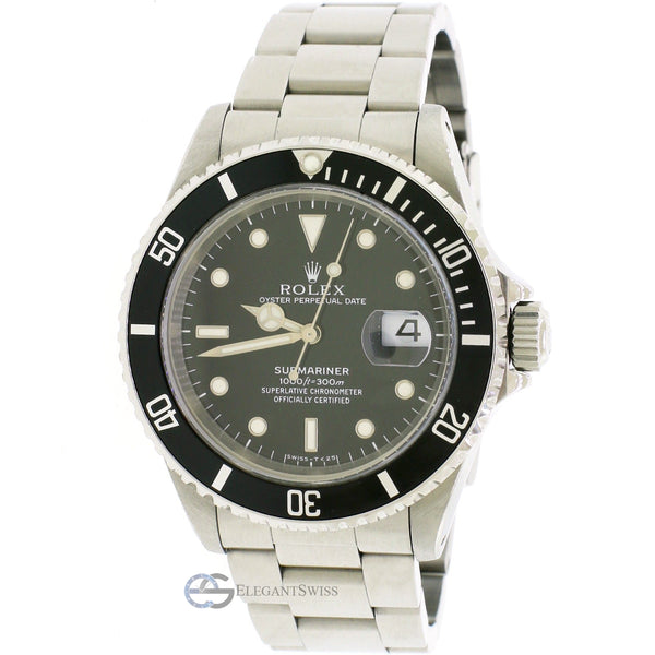 Rolex Submariner Date Black Dial 40MM Automatic Stainless Steel Oyster Mens Watch Box&Papers
