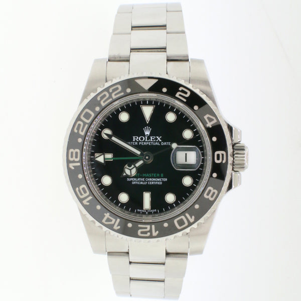 Rolex GMT-Master II 40MM Ceramic Bezel Automatic Mens Watch 116710 Box Papers