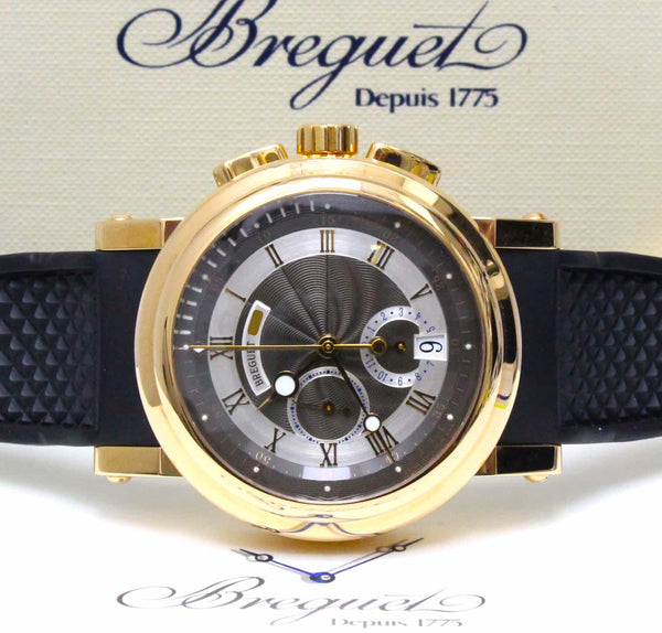 Breguet Marine Chronograph 18K Rose Gold 42MM Automatic Mens Watch 5827BR/Z2/5ZU