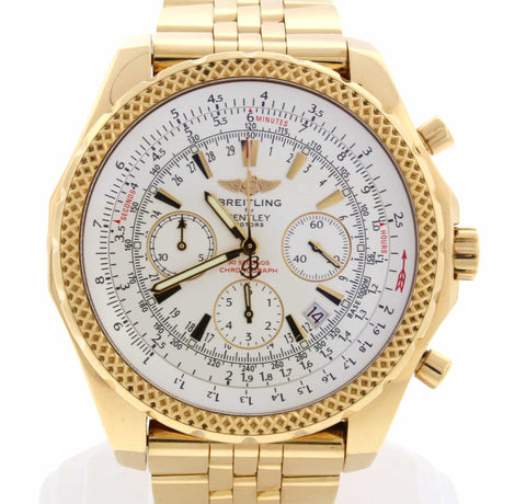 Breitling Bentley Motors Special Edition 18K Yellow Gold Chronograph Automatic Mens Watch K25362