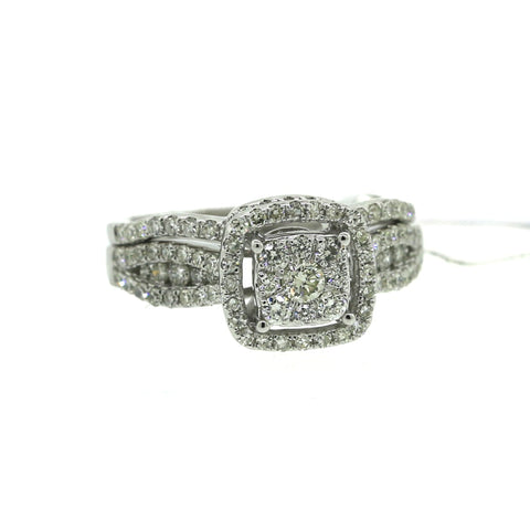 14K White Gold 0.96ct Diamond Ring Engagement Ring