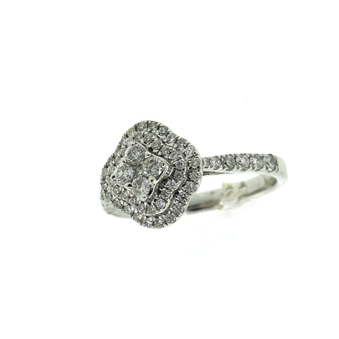 14K White Gold 0.75ct Diamond Ring Engagement Ring