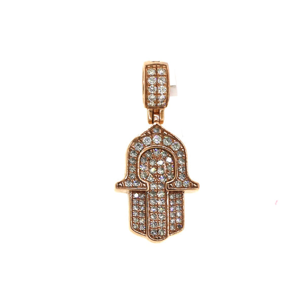 14K Rose Gold 0.66CT VS Diamonds Hamsa Pendant