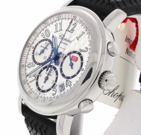 Chopard Mille Miglia 1000 Chronograph Silver Gray Dial Steel Mens Watch 168331-99
