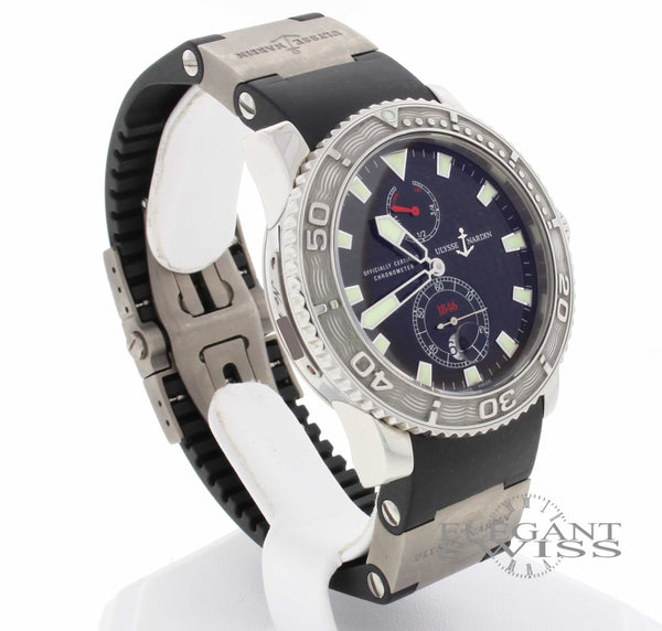 Ulysse Nardin Maxi Marine Diver Chronometer 1846 Rubber Strap Automatic Mens Watch 263-33