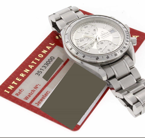 Omega Speedmaster Chronograph White Dial Automatic Mens Watch 3513.30.00