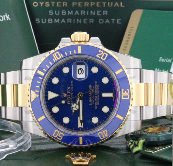 Rolex Submariner 18KT/SS Ceramic Blue Dial Watch 116613