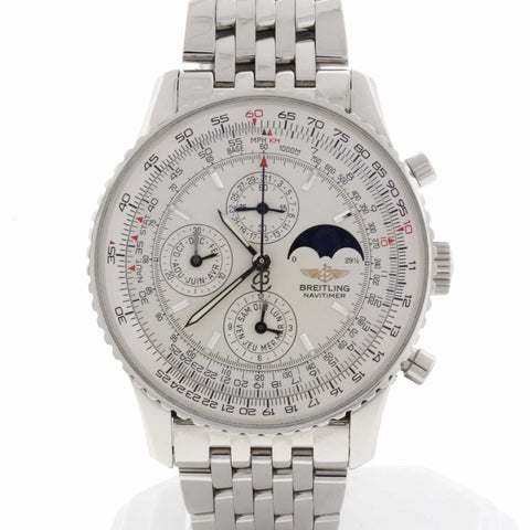 Breitling Navitimer Olympus Moonphase Calendar Chronograph 43MM Automatic Stainless Steel Mens Watch A19340