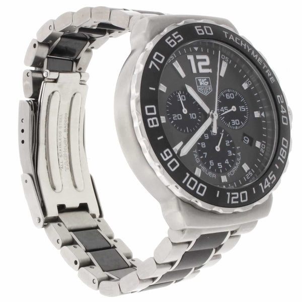 Tag Heuer Formula 1 Anthracite Sunray Dial Ceramic Bezel Mens Watch CAU1115