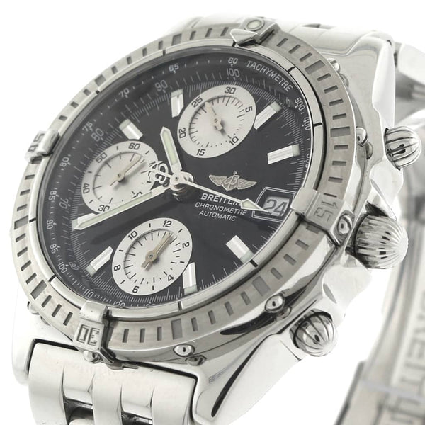 Breitling Chronomat 39M Black/Silver Dial Chronograph Automatic Stainless Steel Mens Watch A13352
