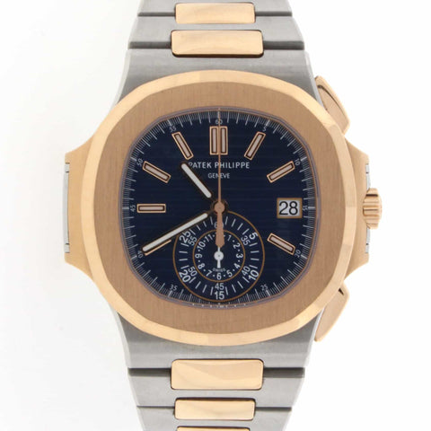 Patek Philippe Nautilus 18K Rose Gold/Stainless Steel 41MM Automatic Mens Watch 5980/1AR-001
