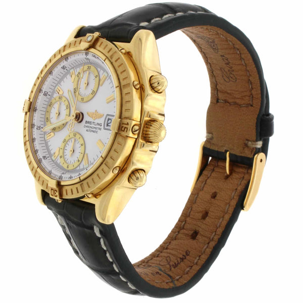 Breitling Chronomat Windrider 18K Yellow Gold 39MM Automatic Mens Watch K13352