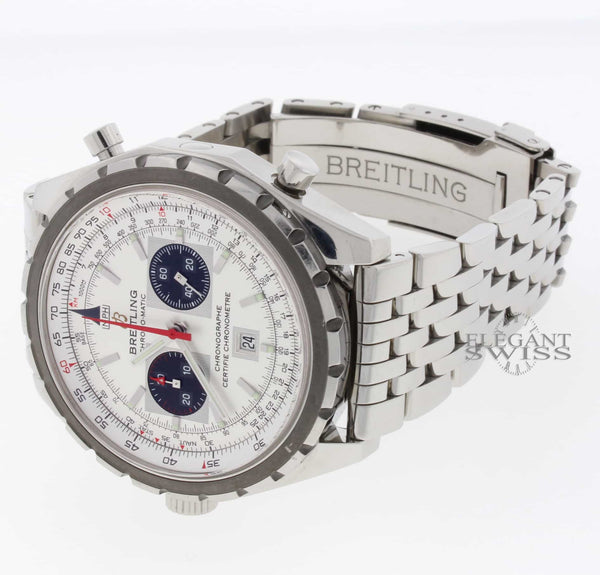 Breitling Chono-Matic 44MM Automatic Chronograph Stainless Steel Mens Watch A41360