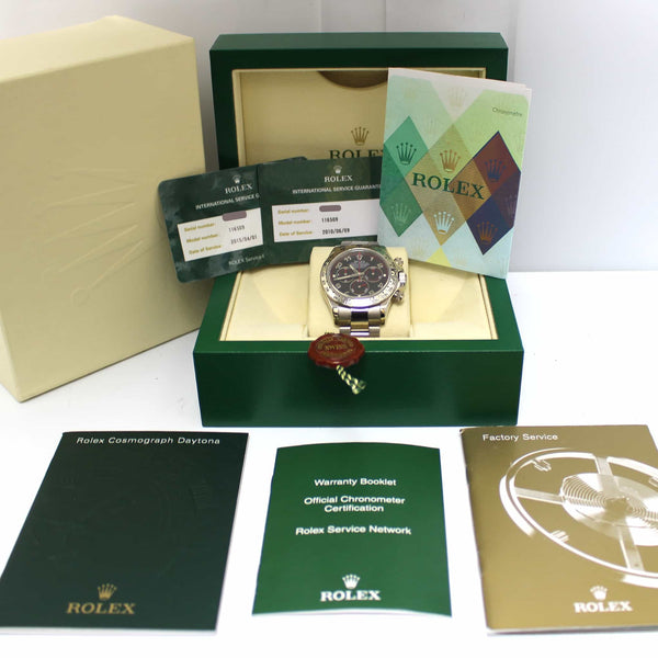 Rolex Daytona Cosmograph 18K White Gold Racing Dial Automatic Watch 116509